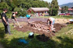 Butte Wallner en jardin collectif au 648 arts